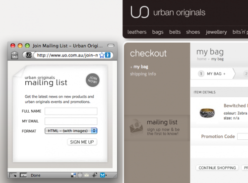 Urban Originals - Email Campaign - Online Retail