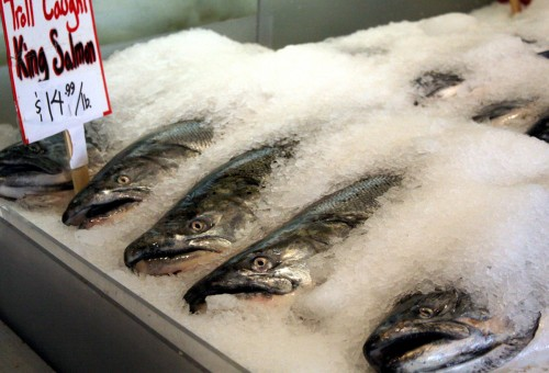 Salmon for Sale | Pike's Market Seattle