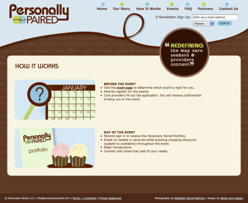 Personally Paired | How it Works Page Design