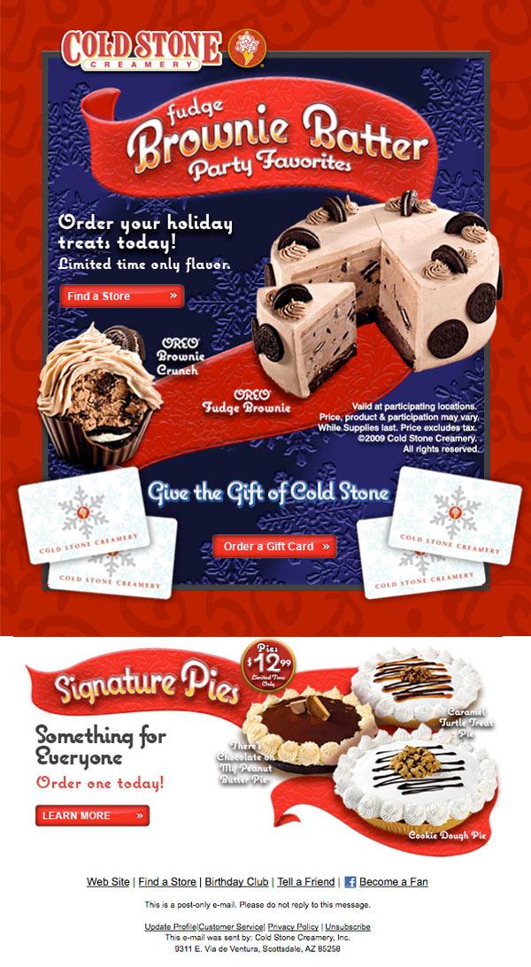 Cold Stone Creamery Email Design