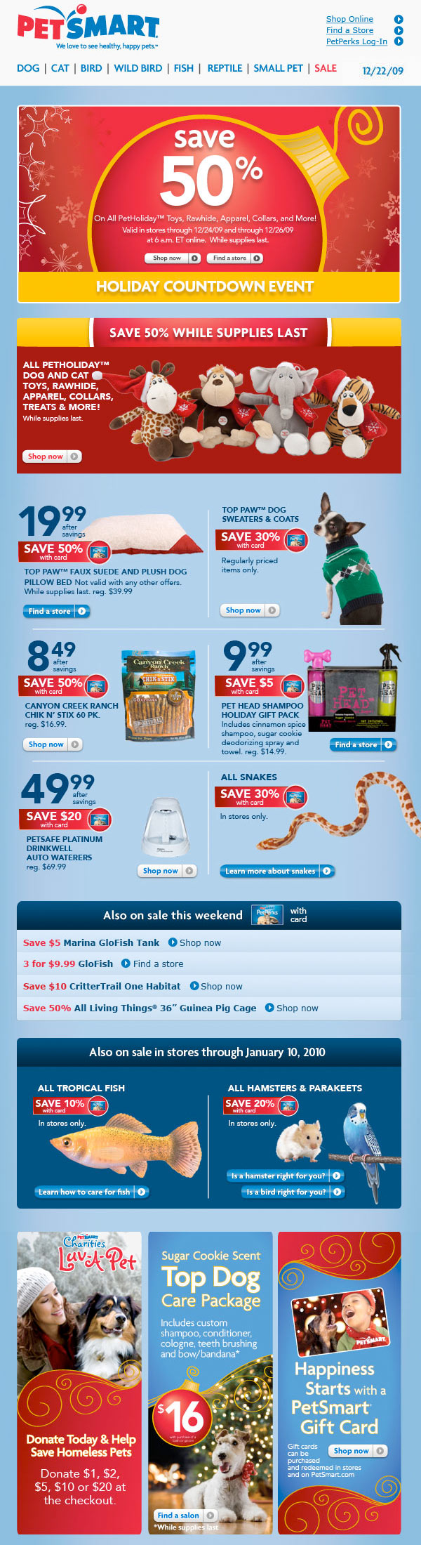 Pet Smart | Email Design