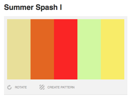 Summer Splash I | Color Palette