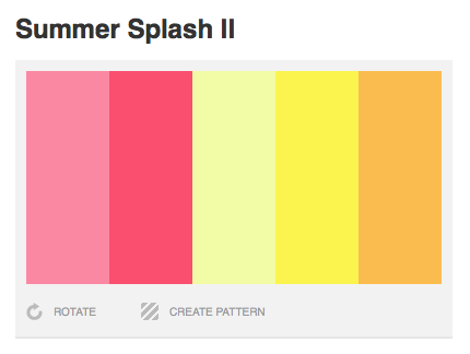 Summer Spash II Color Palette