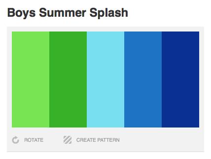 Boys Summer Splash Color Palette