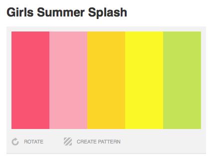Girls Summer Color Palette