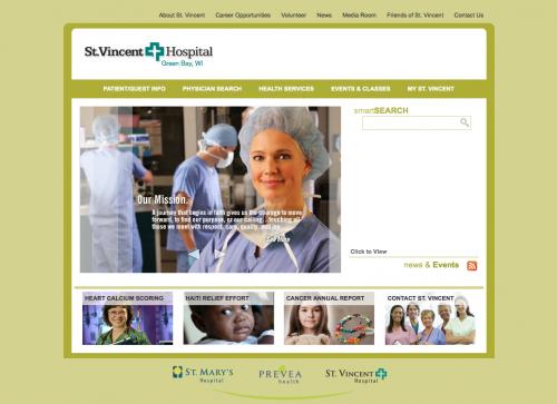 St. Vincent Hospital | Healthcare Website Design