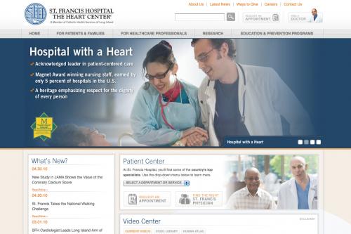 St. Francis Hospital | Healthcare Web Design