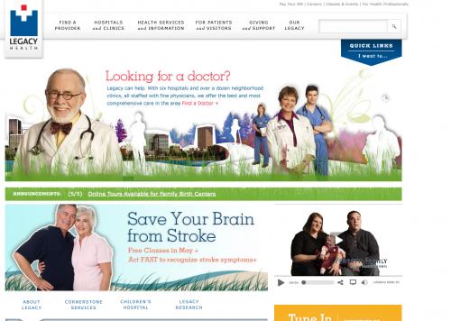 Legacy Health | Web Design