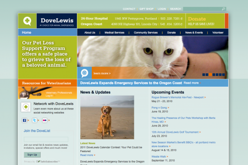 Dove Lewis | Emergency Animal Care Web Design