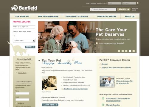 Banfield | The Pet Hospital Web Design
