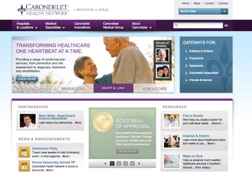 Carondelet Health Network | Healthcare Web Design