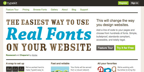 TypeKit - Web Fonts