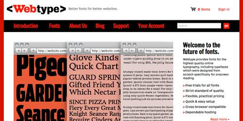 Webtype - Web Fonts