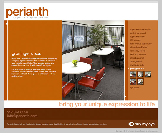 Perianth Interior Designers - Portfolio Search