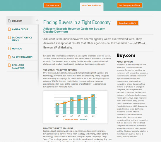 Adlucent Portfolio Case Study Design