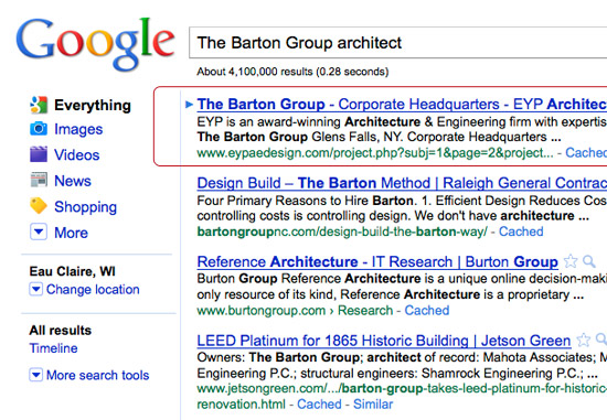 The Barton Group - EYP Search Ranking