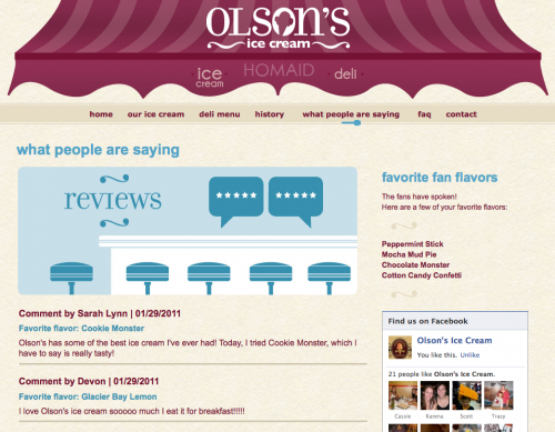 Olson's Ice Cream - What people are saying