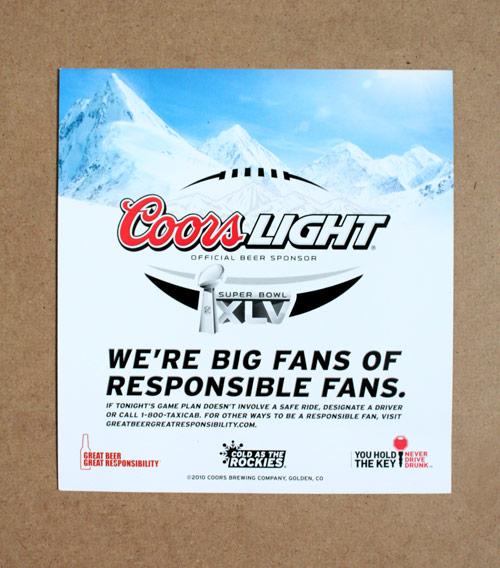 Coors Super Bowl 45 Ad