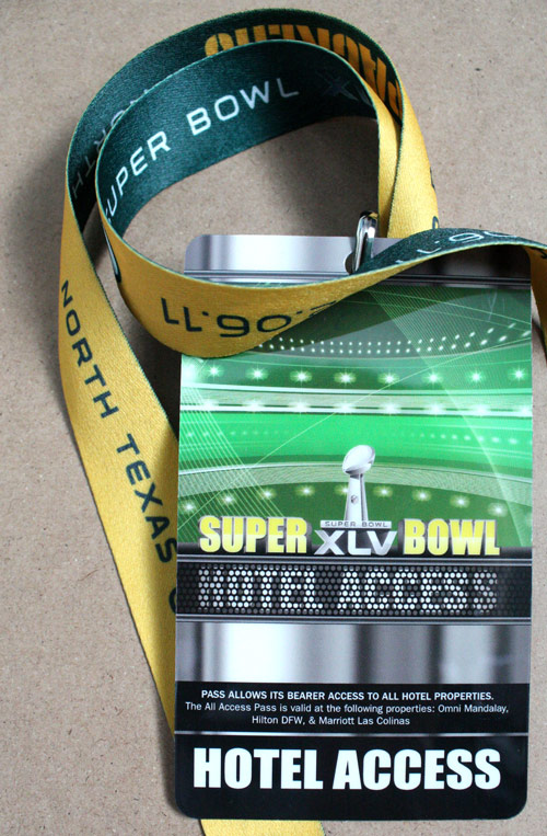 Packers Hotel Access Tag