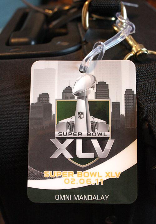 Packers Super Bowl XLV Luggage Tag
