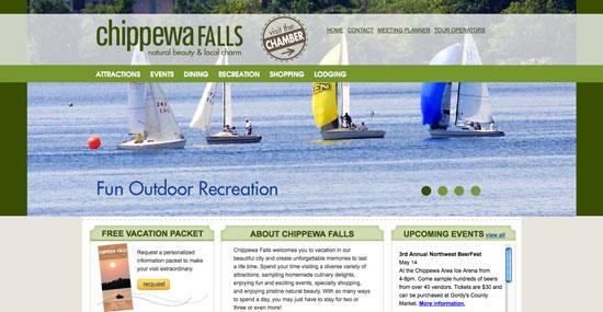Chippewa Falls Tourism Website Design