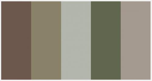 Light Camo Color Palette