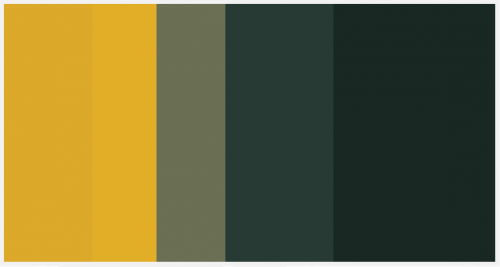 Packers Football Color Palette