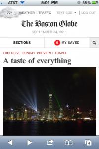 Boston Globe Home Mobile