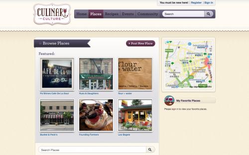 Culinary Culture Web Design