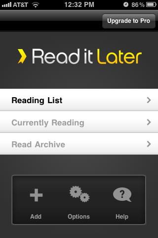 Read it Later App Design