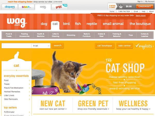 Wag.com Cat Section Design