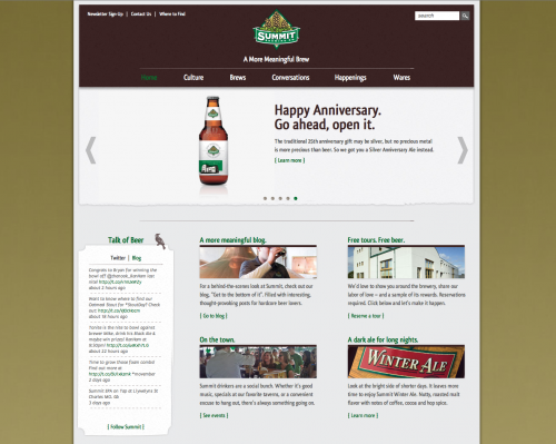 Summit Brewery Website Design