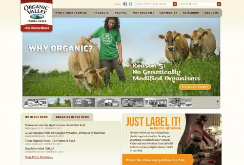 Organic Valley Web Design