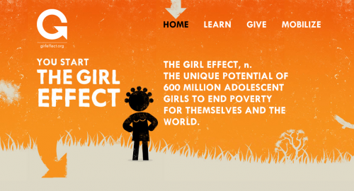 The Girl Effect Homepage Design