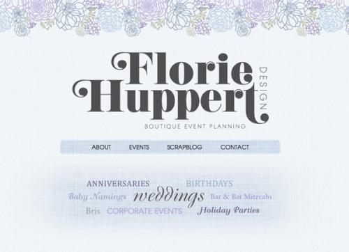 Florie Huppert Design Homepage