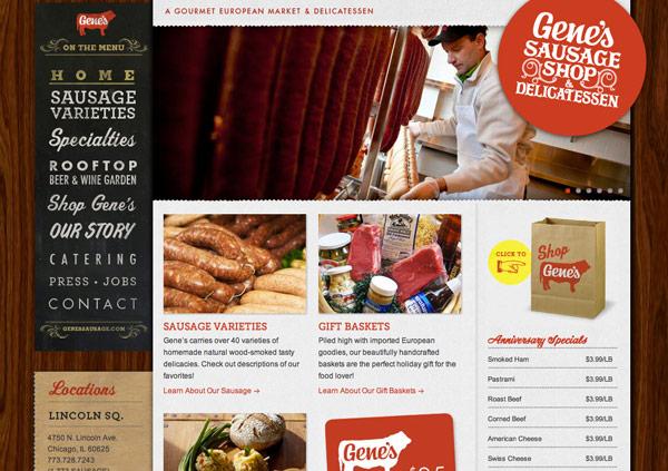 Gene's Sausage Shop Design