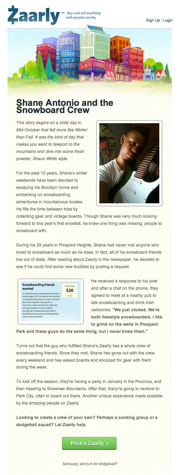 Zaarly Email Marketing