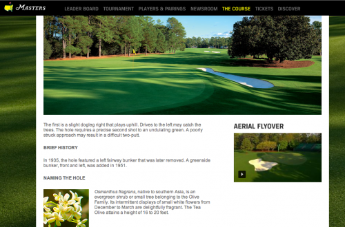 Augusta National Website