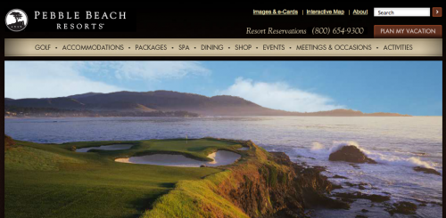 Pebble Beach Website