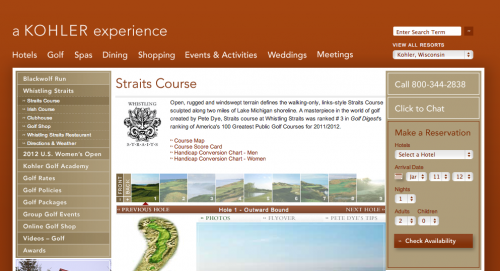 Whistling Straits Website