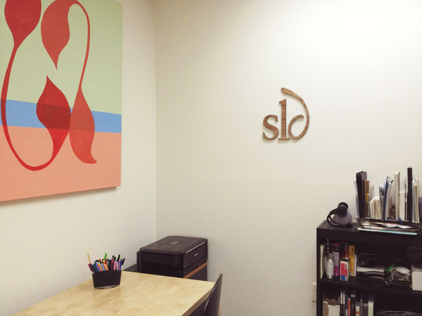 SLD Wooden Logo Sign