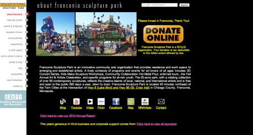 Before Franconia Sculpture Park Website