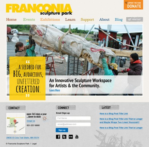 New Homepage Franconia Sculpture Park