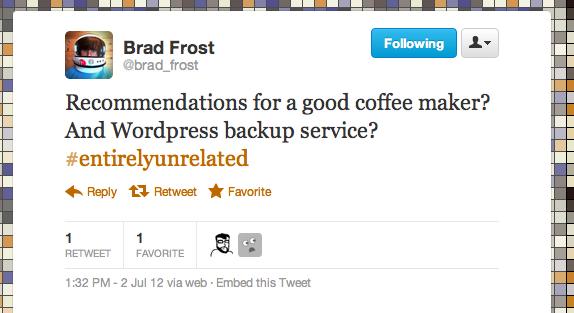 Real Tweet - @Brad_Frost