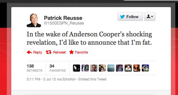 Anderson Cooper Timely Tweet