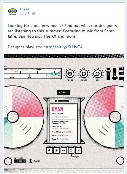 Designer Playlists - Fossil Facebook
