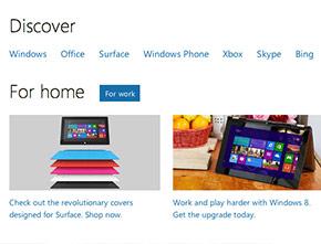 Microsoft Responsive Sidebar Horizontal