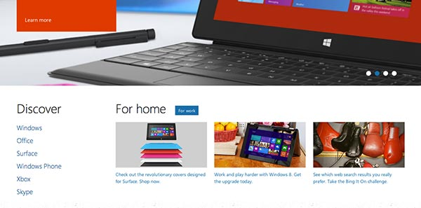 Microsoft Responsive Sidebar