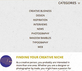 Responsive Category Sidebar Open