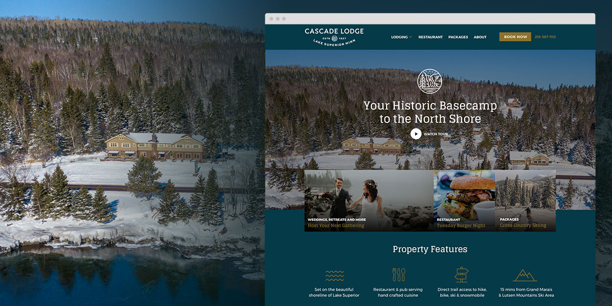 Cascade Lodge Minnesota Website Design
